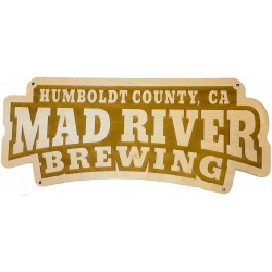 Wooden Mad River Sign